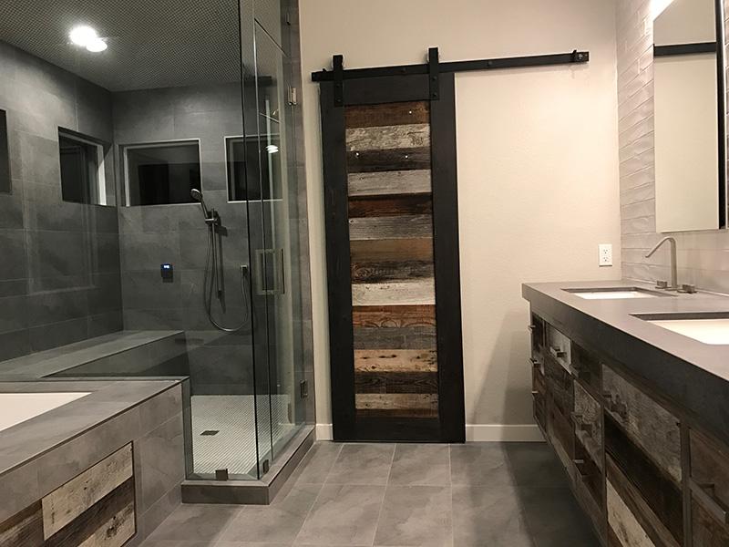 Modern-Rustic Master Bath
